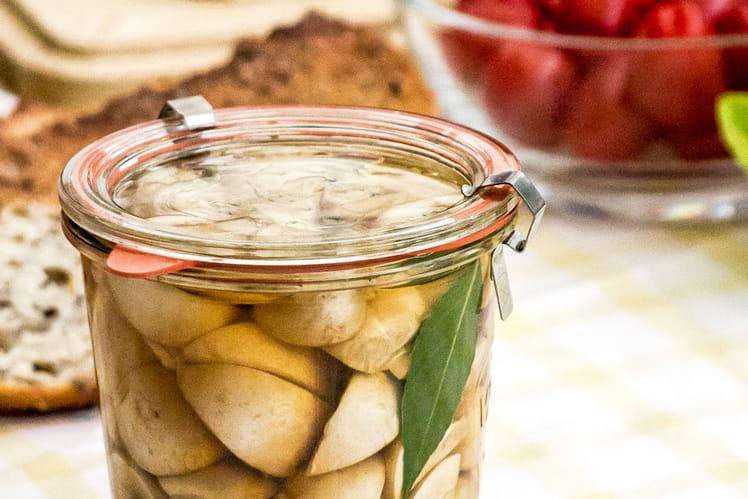 Pickles de champignons LOU au vinaigre de cidre