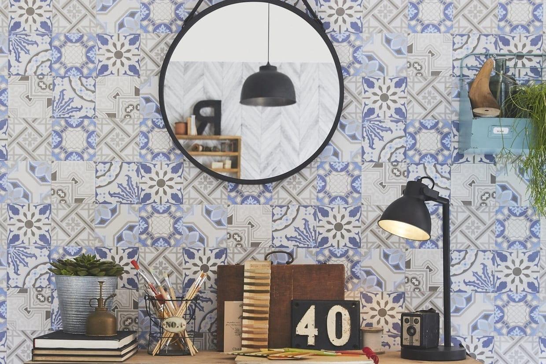 Tapisserie Carreaux De Ciment le papier peint à motifs carreaux de ciment
