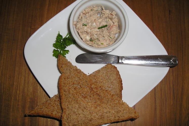 Rillettes de thon au mascarpone et sans gluten
