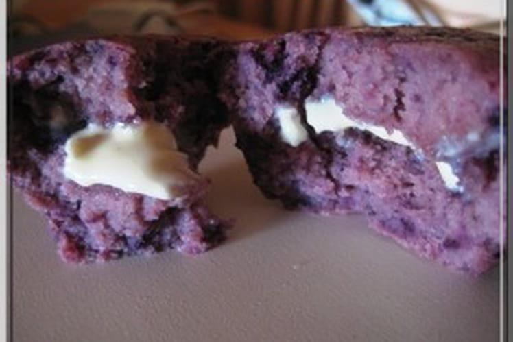 Muffins fruits rouges coeur chocolat blanc