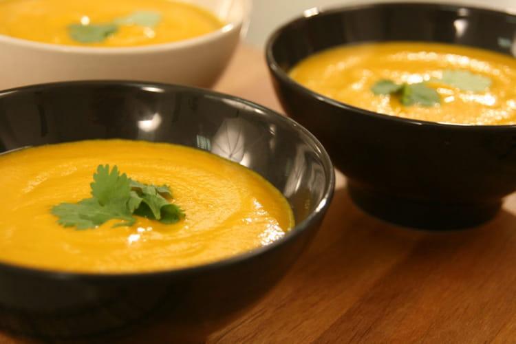 Velouté carottes coco coriandre