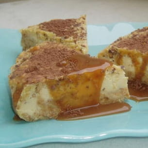 cheesecake au bailey's et son caramel