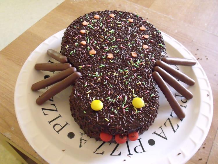 Recette de g teau marbr d 39 halloween au gla age chocolat la recette facile - Recette dessert halloween ...