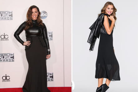 Alanis Morissette : une robe longue en cuir