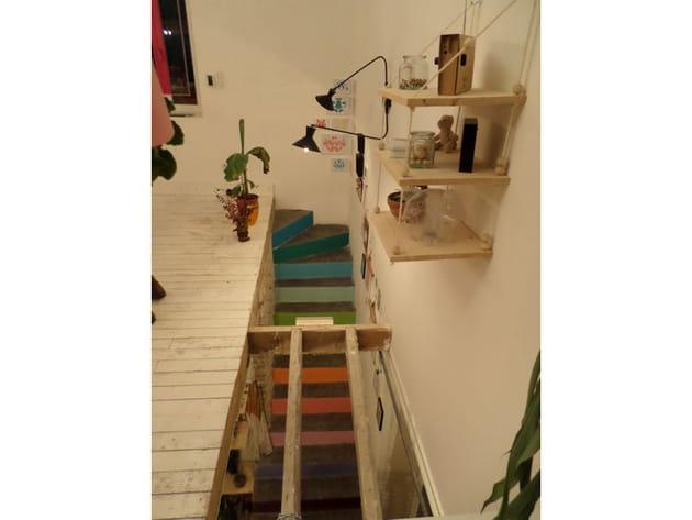 Des escaliers façon nuancier