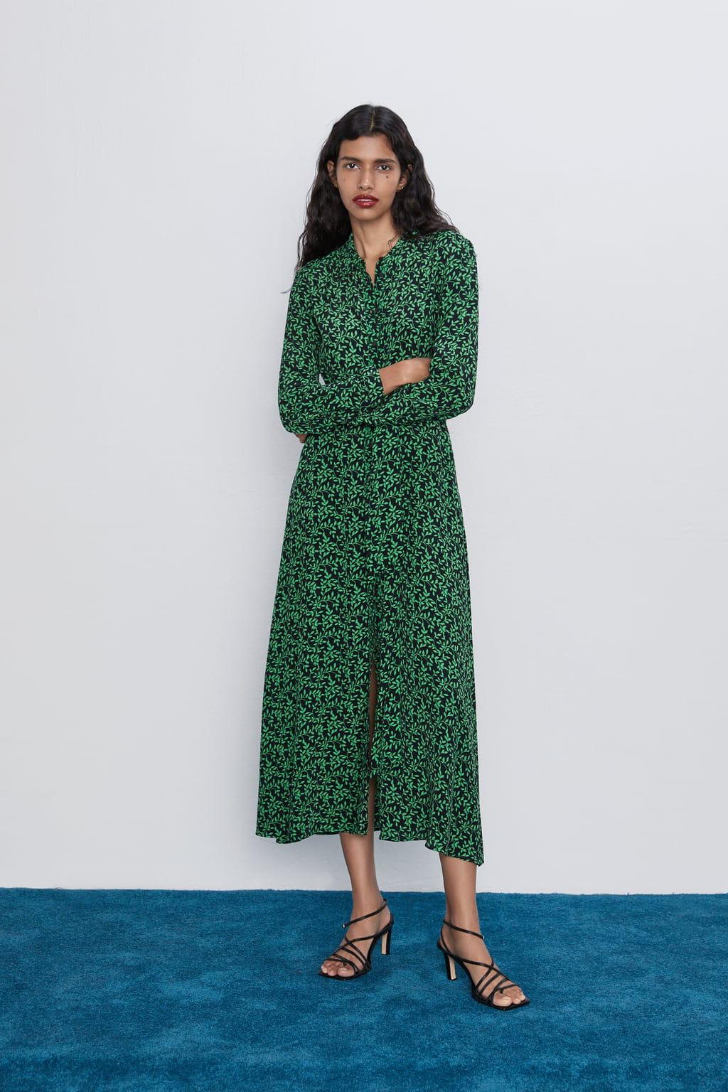 Robe chemise imprimée de Zara