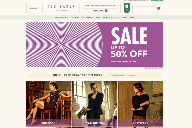 Le e-shop de Ted Baker