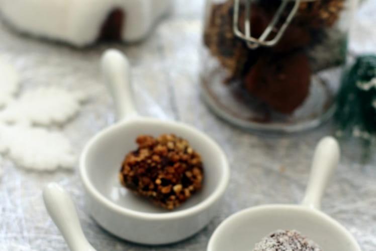 Truffes au chocolat pour Noël