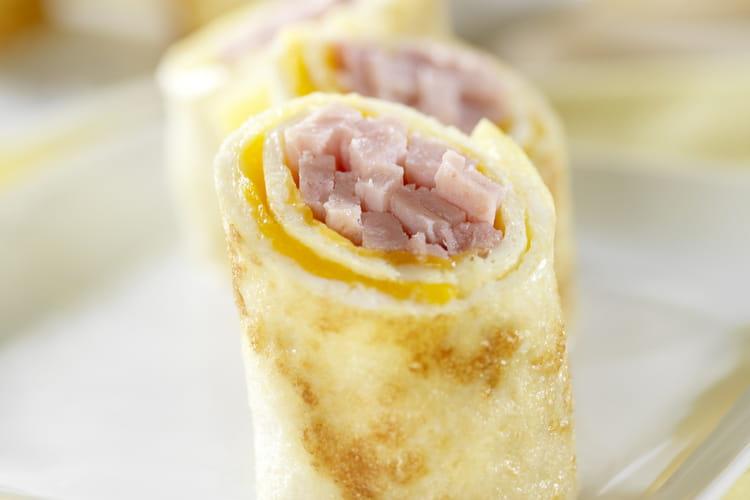 Mini-rouleaux d'omelette à la mozzarella et au Galbacotto