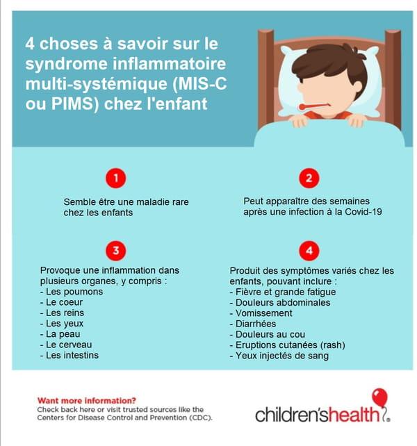 Symptômes d'un syndrome inflammatoire multi-systémique
