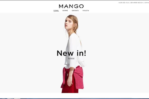 Le e-shop de Mango