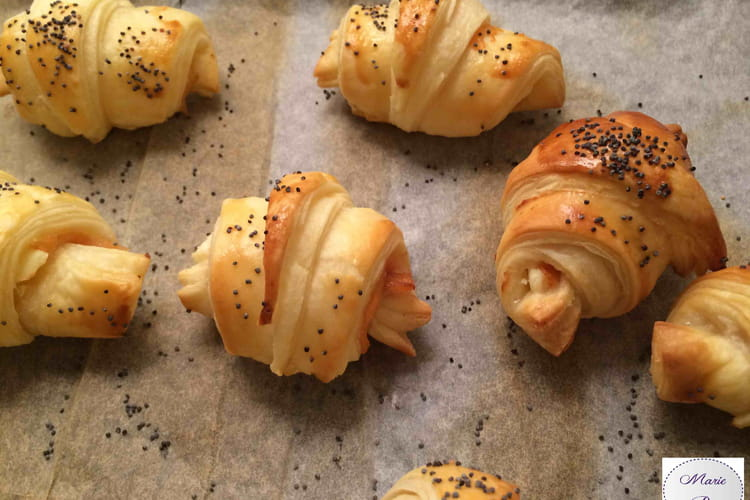 Minis croissants saumon fumé et philadelphia