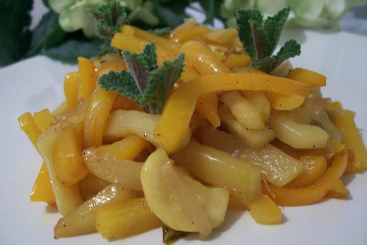 Poêlée de poivrons et courgettes à la marocaine