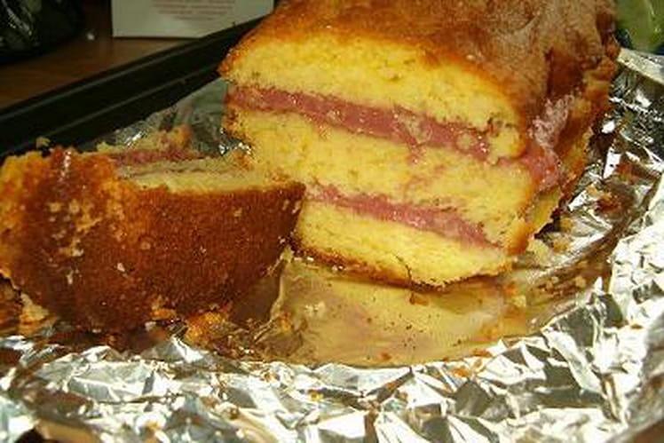 Cake citron-framboises