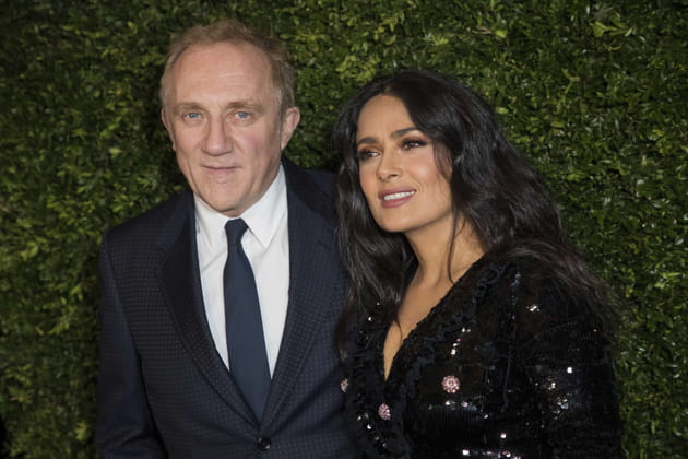François-Henri Pinault et sa femme l'actrice Salma Hayek au dîner Finch Chanel