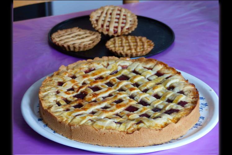 Gateau ou tarte sablée à la confiture (nutella)