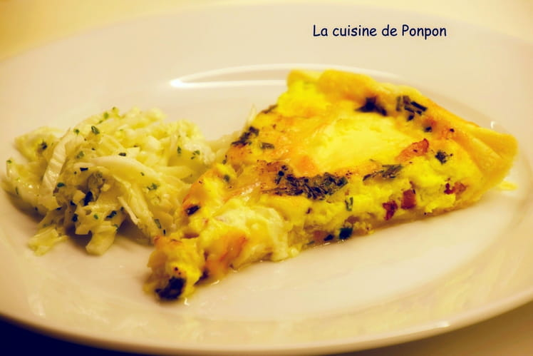 Tarte lardons, oignons et fromage chaource