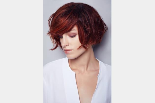 Les cheveux rouges