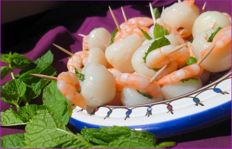 Recette amuse bouches litchi crevette la recette facile - Amuse bouche facile et rapide froid ...