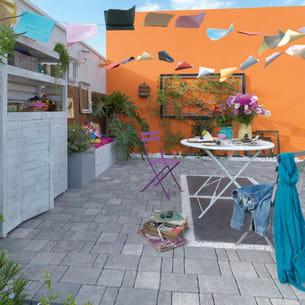 dalles calcaire vindilis de leroy merlin. Black Bedroom Furniture Sets. Home Design Ideas