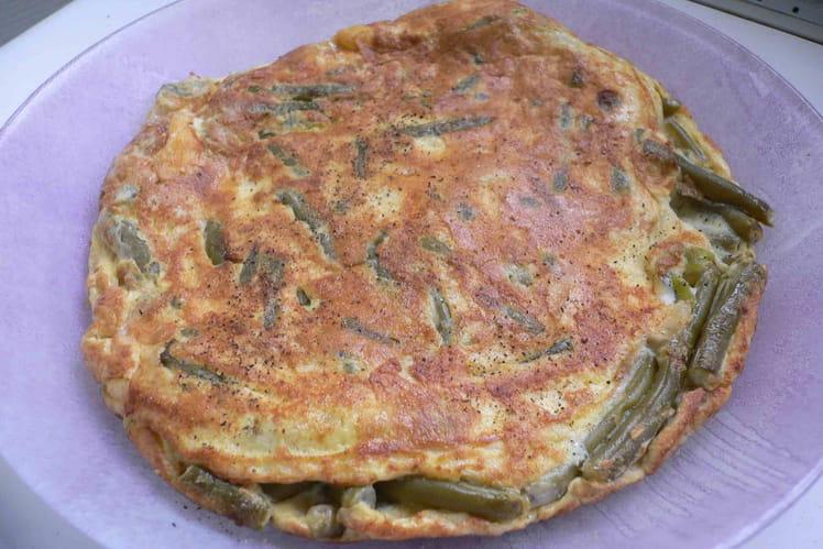 Omelette de haricots verts au raifort
