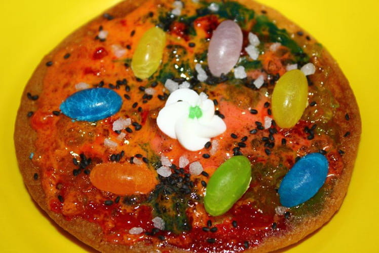 Pizza aux bonbons