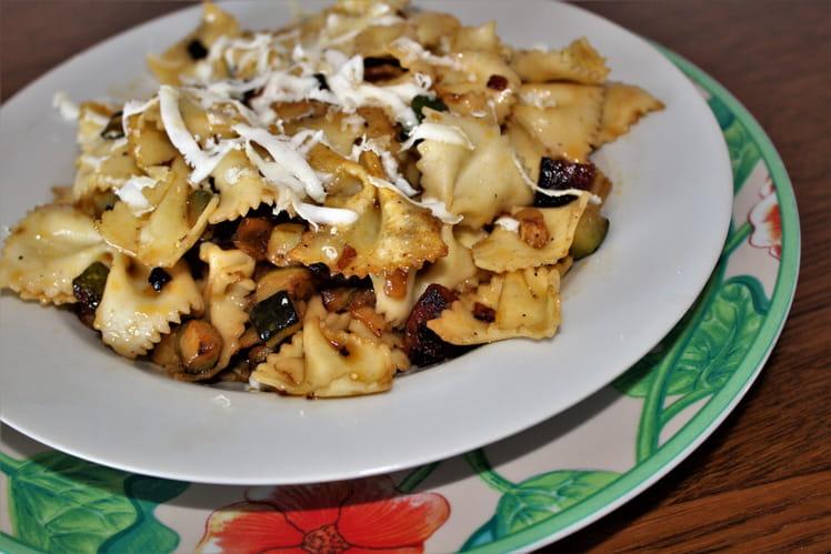 Pâtes aux courgettes et au chorizo