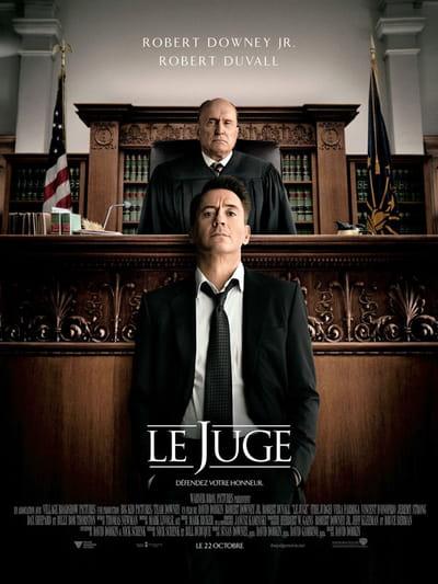 affiche du film le juge, au cinéma le 22 octobre 2014