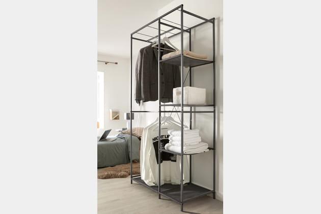 penderie ouverte spaceo de leroy merlin. Black Bedroom Furniture Sets. Home Design Ideas