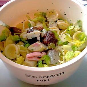 salade de pâtes aux antipasti misti
