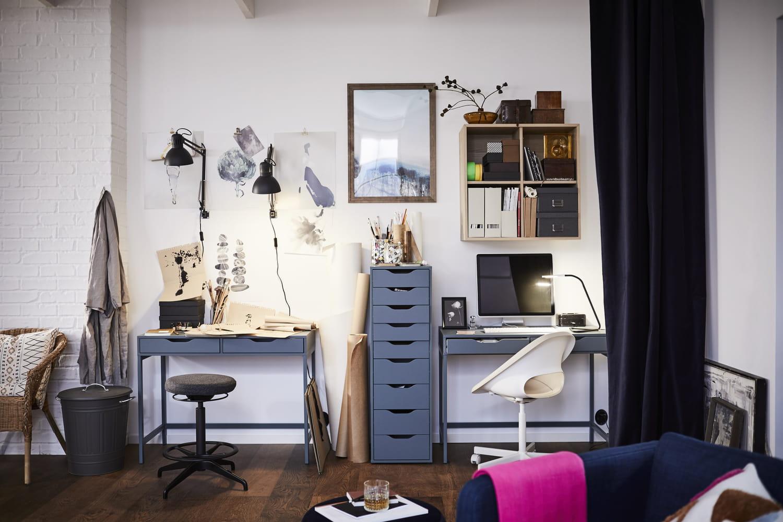 Bureau IKEA: meuble et plateau, pour la chambre, modulable, prix...