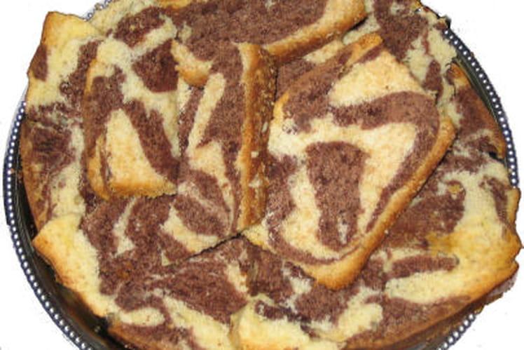 Gateau marbré chocolat/vanille