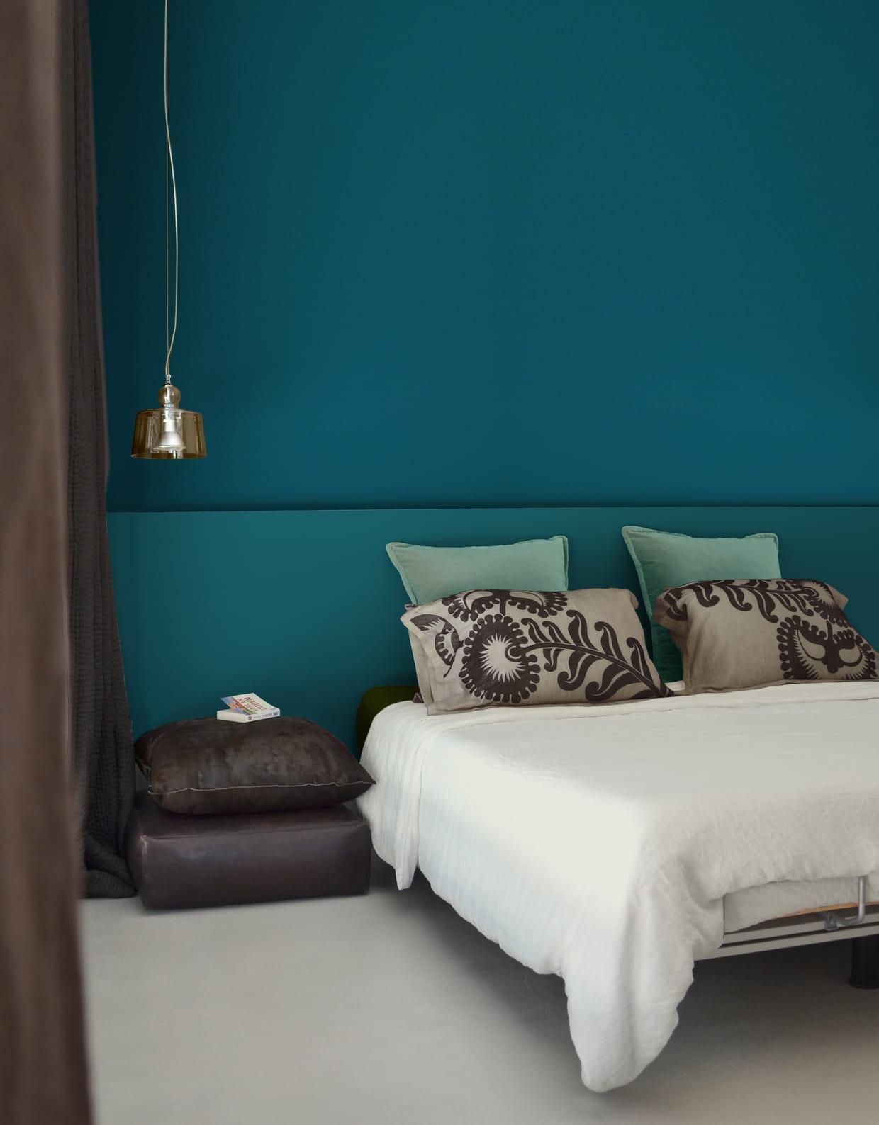 Peinture bleu de su de et acapulco de pure paint for Peinture chambre vert canard