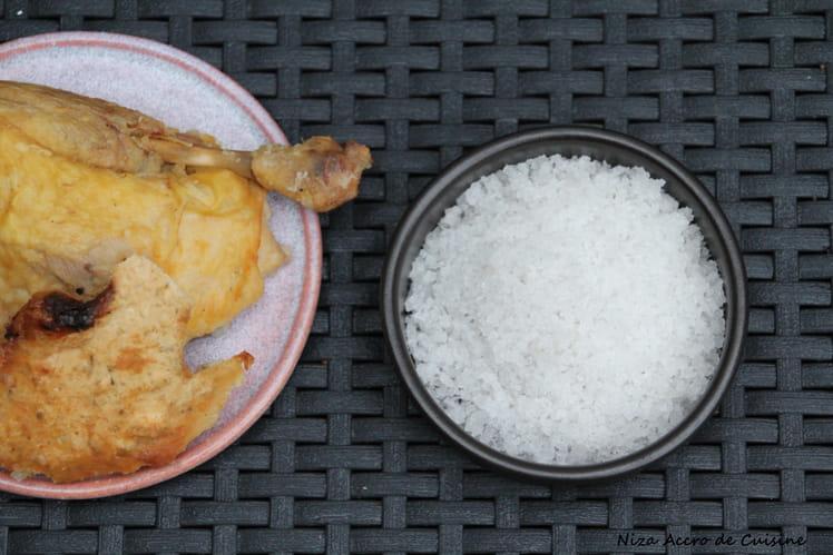 Poulet en croûte de sel