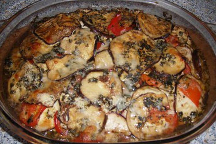 Casserole d'aubergines et de tomates