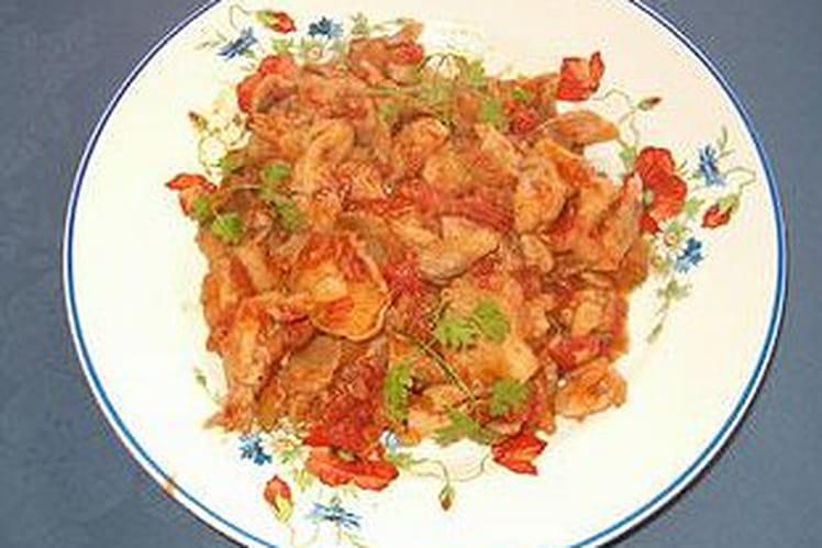 Pleurotes à la tomate