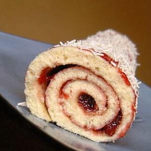 gâteau roulé à la fraise
