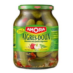 cornichons aigres-doux aux poivrons, oignons & aromates