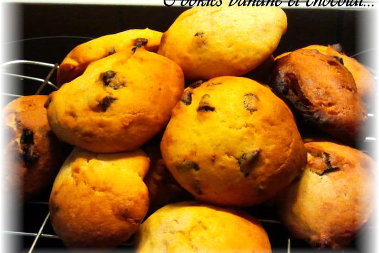 Cookies bananes et chocolat