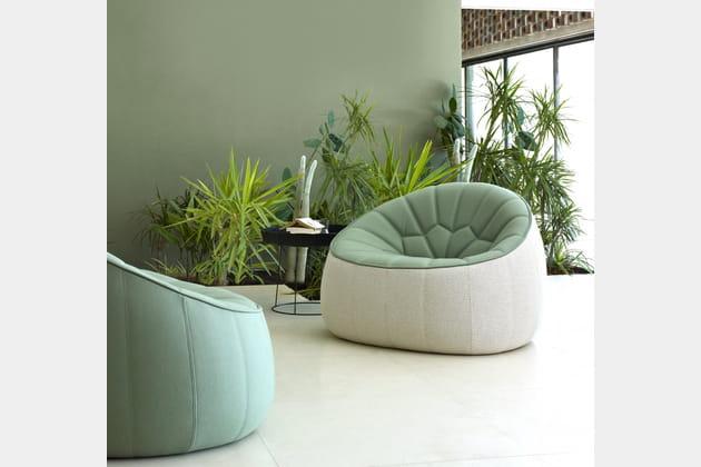 Le fauteuil vert opaline