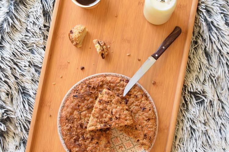 Crumble-cake à la noisette et noix de pécan sans gluten ni lactose