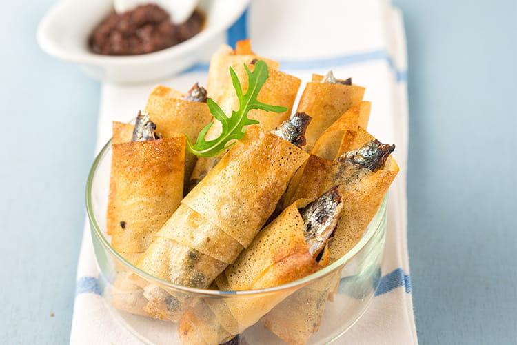 Croustillants de sardine en brick