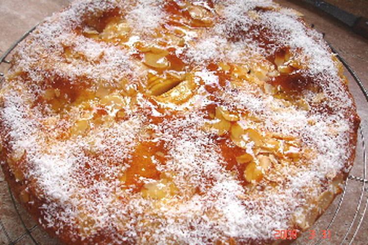Gâteau aux pommes et aux amandes, arôme frangipane