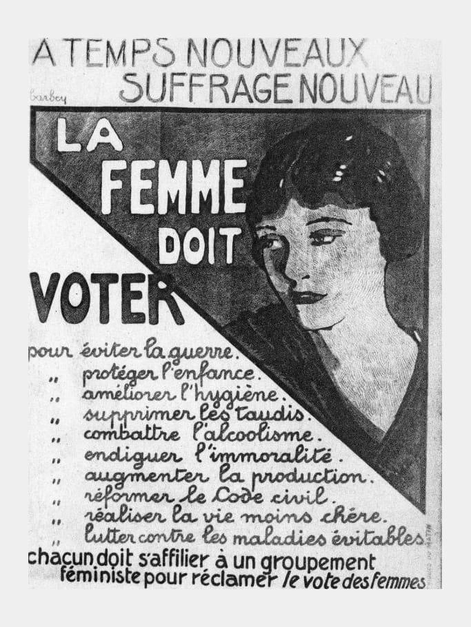 1925 la femme doit voter droit de vote des femmes 70e anniversaire journal des femmes. Black Bedroom Furniture Sets. Home Design Ideas