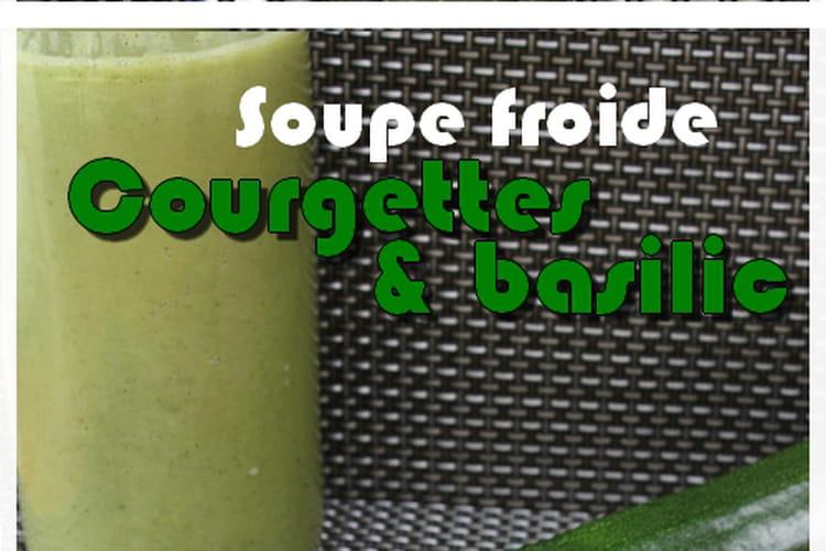 Soupe froide de courgettes et fromage frais