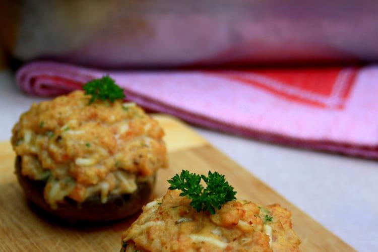 Champignons farcis au jambon et fromage