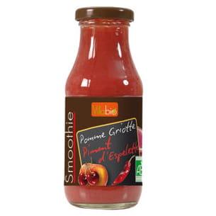 smoothie pomme-griotte au piment d'espelette de vitabio