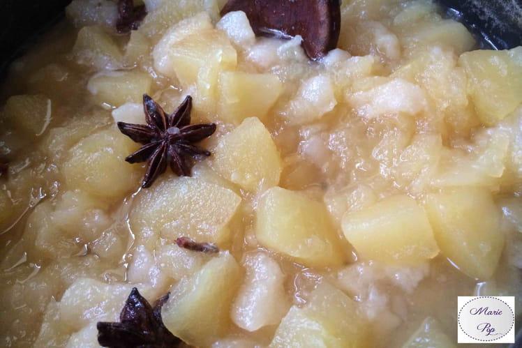 Compote pommes poires badiane