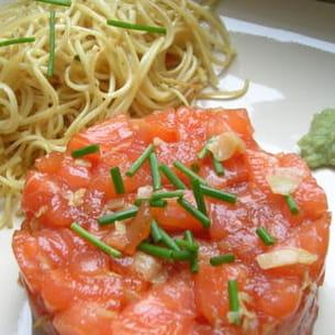 tartare de saumon façon sashimi