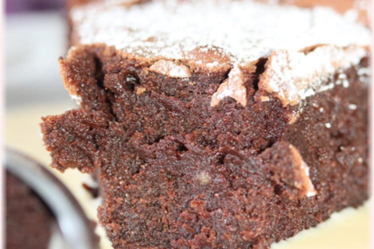 Fondant au chocolat meringué
